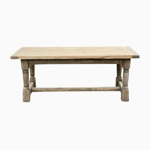 Rustic French Bleached Oak Farmhouse Dining Table