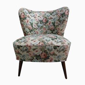 Cocktail Chair mit Blumendruck, 1960er