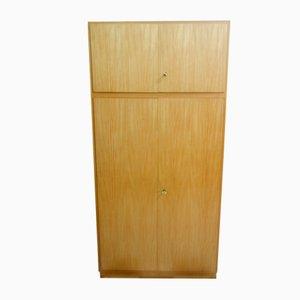 Big Blonde Wood Wardrobe Cabinet, 1960s