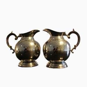 Silver-Plated Jugs, Italy, 1950s, Set of 2