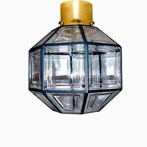 Deckenlampe von Glashütte Limburg