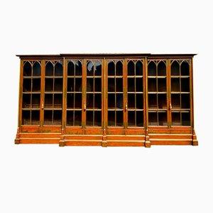 Antique Mahogany Oxford University Bookcase, 19th Century