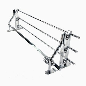 Bauhaus or Art Deco Chrome Wall Rack