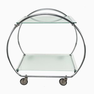 Art Deco Serving Trolley or Bar Cart, 1930s