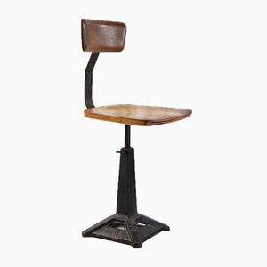 Chaise de Couture d'Usine Industrielle Antique en Fonte de Singer, 1920