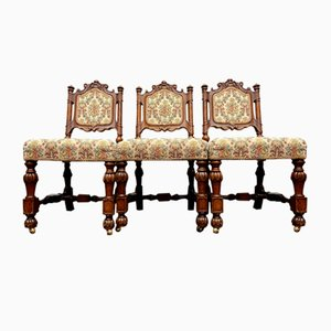 Victorian Gothic Dining Chairs, Set of 6