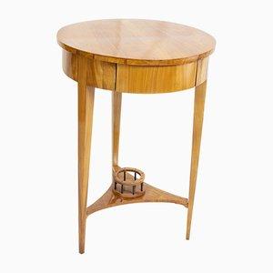19th Century Biedermeier Round Drum Sewing Table