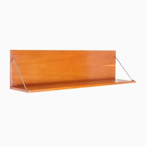 Mid-Century Czech Oak U-490-1 Wall Shelf by Jiri Jiroutek from Interier Praha, 1960s