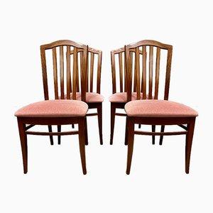 Chaises de Salon Vintage en Teck par Stag, Set de 4