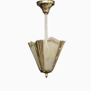 Kleine Französische Art Deco Deckenlampe, 1930er