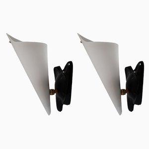Lampade da parete regolabili in lucite, Francia, anni '60, set di 2