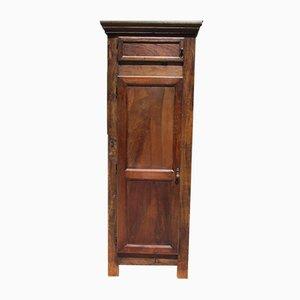 Armadio Bonnetiere stretto antico in legno di noce massiccio, XIX secolo