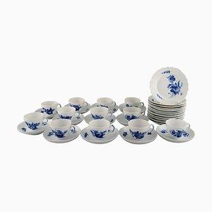 Service à Café Courbé Bleu Royal Copenhagen pour 12 Personnes, 1960s, Set de 36