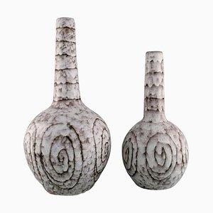 Vases à Pieds Courbés en Céramique Émaillée, Set de 2
