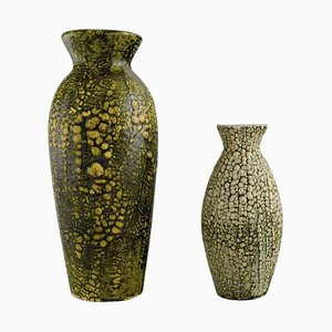 Glasierte Vasen aus Keramik von European Studio Ceramicist, 1960er, 2er Set