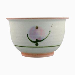 Bowl in Glazed Ceramics by Bodil Manz, Denmark, 1980s