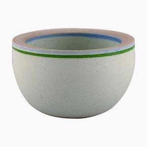 Schale aus glasierter Keramik von Bodil Manz B., 1980er