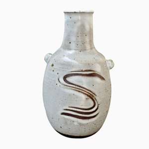 Vase Style Japonais en Céramique par Janet Leach, 1981