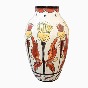 French Decorative Ceramic Vase, 1940s