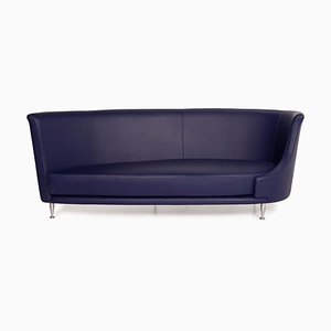 Moroso Purple Leather Sofa