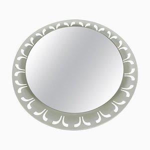 Beleuchteter Spiegel aus Metall von Hillebrand, 1950er