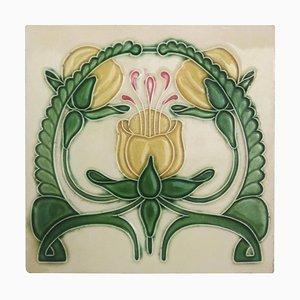 Art Nouveau Relief Glazed Tile