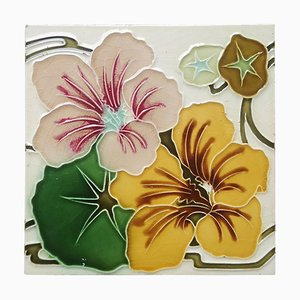 Relief Tile with Flower, France, 1900s