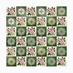 Mixed Glazed Tile by S. A. Produits Ceramiques De La Dyle,1930s