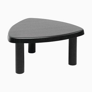 Black Stained Oak Tripod Side Table