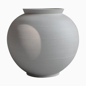 Weißer Moon Jar aus Porzellan
