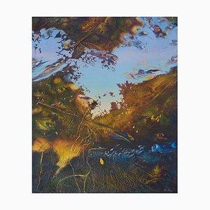 Franco Mulas, Reflexes, 1998, Original Oil Painting on Wood