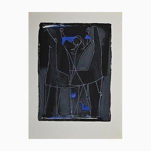 Marino Marini, Hummingbird, Original Etching and Aquatint, 1963
