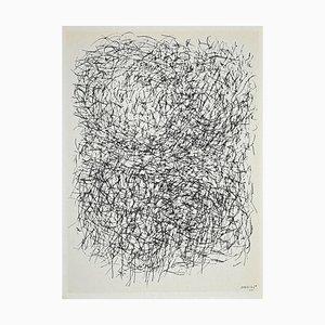 Jean René Bazaine, Artistic Composition, Original Lithograph, 1968