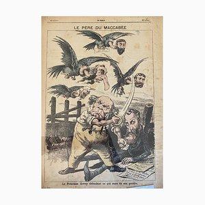 Unbekannt, Le President Grevy, Originale Lithographie, 19. Jahrhundert