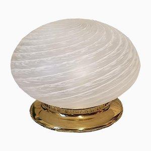 Murano Glass Swirl Lamp with Brass Base