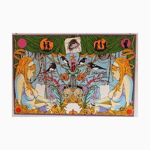 Garden of Iverly Delights, Pop & Fantastische Symbolik, Ölgemälde auf Metall, 2013