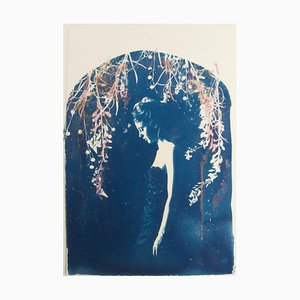 Lyra, Rosie Emerson, Hand-Painted Cyanotype on Paper, 2015