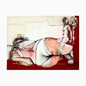 Anne Valérie Dupond, Study for Jo V, Sensual Fabric Painting with Nudes, 2016