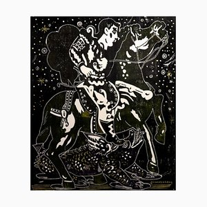 Exploring a Starlit Night, Mythological Character Painting, 2020