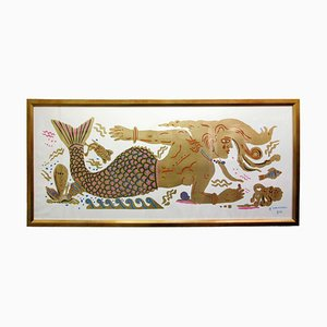 Dream Maritime, Pittura ispirata alla carta, foglia d'oro