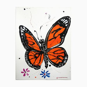 Psychi 3, Soul Series, Pop Contemporary Monarch Butterfly Painting, 2020