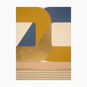 Paradigm Shift, Striking Modern Geometric Abstract Painting, Bright Palette, 2019