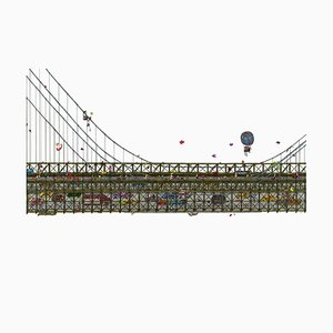 Brooklyn Bridge, Illustration von Guillaume Cornet, 2019