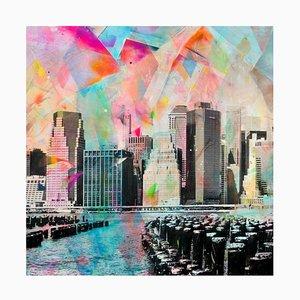 Junto Al Muelle, Fotografia colorata dipinta a mano, New York Scene, 2018