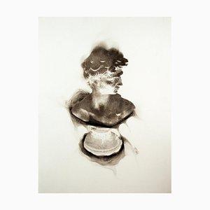 More a Lover Than a Fighter II, Rauch auf Papier, Klassischer und Zeitgenössischer Rahmen, 2013
