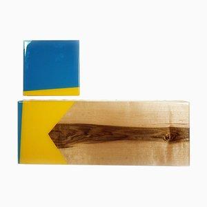 David E. Peterson, Puzzle 103, Contemporary Colorful Wooden Wall Sculpture, 2016