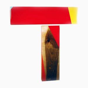 David E. Peterson, Puzzle 104, Contemporary Colorful Wooden Wall Sculpture, 2016