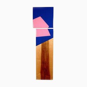 David E. Peterson, Puzzle 98, Contemporary Colorful Wooden Wall Sculpture, 2016