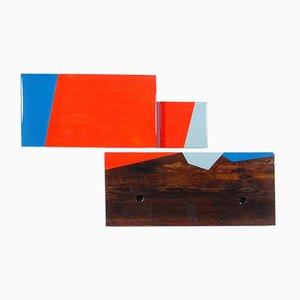 David E. Peterson, Puzzle 96, Contemporary Colorful Wooden Wall Sculpture, 2015
