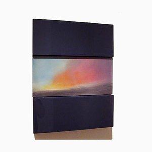 Scultura da parete moderna in legno colorato, David E. Peterson, Sunrise Rincon, 2011